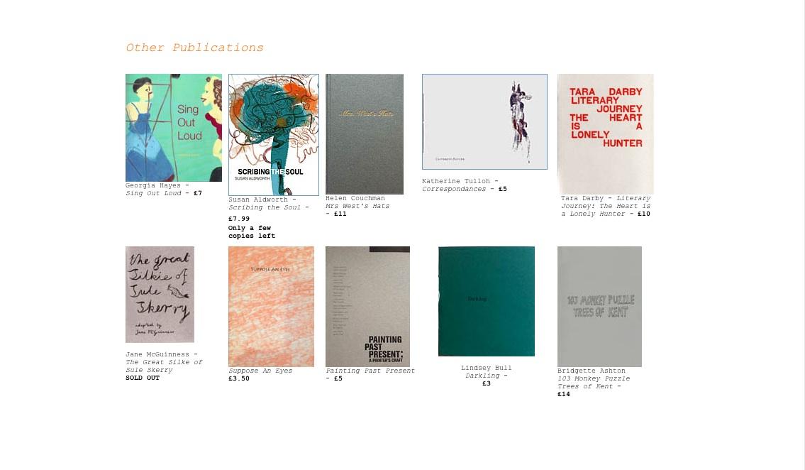 Transition gallery bookshop
